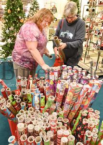 Harold Aughton/Butler Eagle: Friends, Sandi Campbell of Chicora, left, and Lisa Umbaugh spent time together shopping at Boscovs looking for bargins Thursday, December 26, 2019.