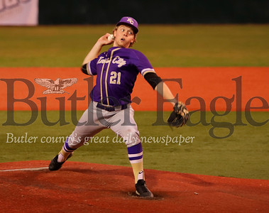 Karns City V Clarion: #21 (shortstop/pitcher) turned a double play and also closed the game