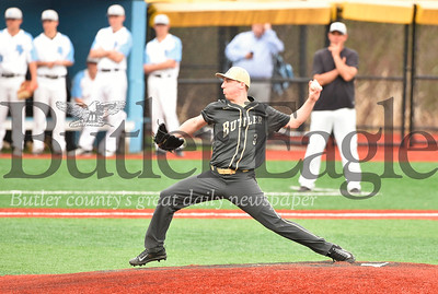 Butler pitcher Colby Anderson logged a win over Seneca Valley Wednesday.