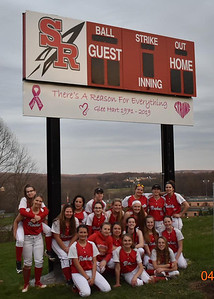SR SCOREBOARD DEDICATION. photos courtesy of Greg Balint. 4-17-2019