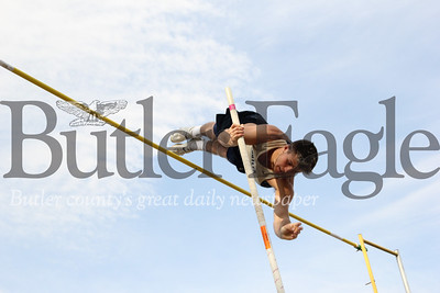 Butler's Jack Codispot vaults his way to a top finish in at Thursday's Butler Invitational. Seb Foltz/Butler Eagle