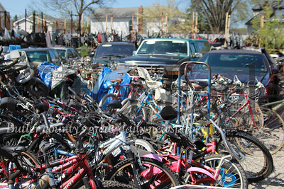 Bike Rodeo Story: Denny Offstein Auto Sales. Bikes collected for this year's Bike Rodeo stored at Denny Offstein Auto Sales. (Seb Foltz/Butler Eagle)