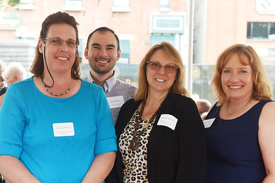Harold Aughton/Butler Eagle: (left to right) Vanessa McCall, Bennett Associates; Eric Bennett, New York Life; Wendy Bennett, Bennett Associates Wealth Management, and Amy Franz, United Way