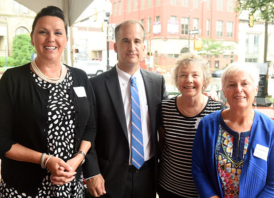 Harold Aughton/Butler Eagle: (Left to Right) Karen Bracket, Nextier Bank; Tom Genevro, Butler Health System; Jennifer Monaco, Butler Chamber; and Connie Swartzfeger, Butler Chamber