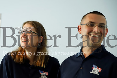 U.S. veteran Justin Hendrickson and his wife Jennie.  Seb Foltz/Butler Eagle