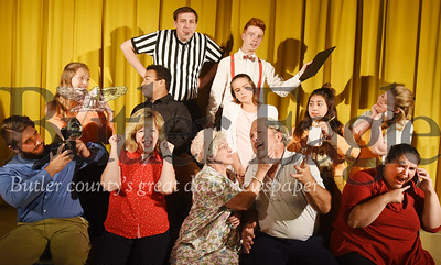 Harold Aughton/Butler Eagle:  (Front: Left-Right) Malachi Stephenson, Sherry O'Donnell, Kim Gaiser, Duke Loring and Alisha Stephenson. Middle: Left – Right) Anya Maschmeir, Devin Cupps, Kyleigh Spink, Jordan Davis, and Ashley Swartz Back:  Left – Right: Michael Traverso and Tyler Pollack.