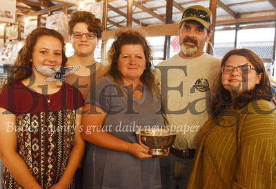Harold Aughton/Butler Eagle: Left - right: Hannah, Faith,  Gerri, Bill and Hope Goldscheitter.