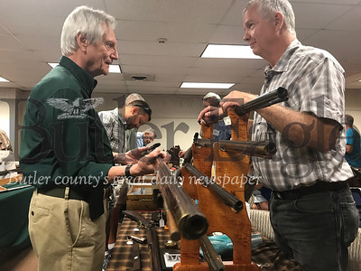 Antiques ranging from rifles to pistols and powder horns to photographs and documents were displayed, sold and traded to over 60 attendees on Saturday at Harmony Museum's Antique Gun Show