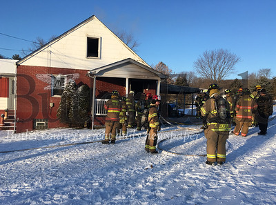 Fire crews responded to a fire on Parker Road in Buffalo Township on Feb 1,2019. No one was injured, but a dog died in fire. Photo Steve Ferris/Butler Eagle