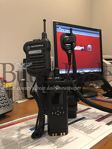 3 COLUMN PHOTO. Picture are new radios being used by emergency organizations in Butler County.