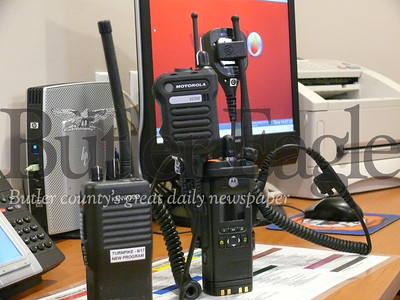 Emergency organizations in Butler County will replace their current radio systems, foreground, with new equipment.