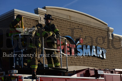 No people or pets were harmed when a faulty hot water tank malfunctioned in the PetSmart in Cranberry Township sending smoke into the building. Fire fighters and EMS from Cranberry Township and Harmony were dispatched to the scene and cleared the store of any danger. Responded have cleared the scene.Photos by Caleb Harshberger/Butler Eagle