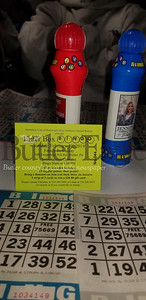 They are all from Litterbox Bingo, held on Sunday afternoon at Family Bowlaway to raise funds for Stray Solutions Animal Rescue and Homeless Cats of Butler. The first-time event raised $4,500, which will be split between the two organizations.