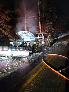 Unionville Volunteer Fire Department photoAn accidental fire destroyed a  pickup truck rigged with a snow plow on Sunset Drive in Center Township about 5:25 a.m. Monday. The driver managed to get out uninjured. Unionville volunteer firefighters quickly extinguished the blaze.