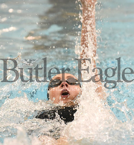 Seneca Valley vs Butler in a swim meet at Butler High School Pool