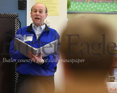 Authur and Poet Tom Catalano reads his poems and talks to students at Connoquenessing Elementary School
