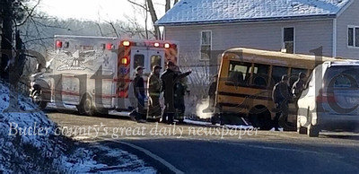 SUMMIT TWP — An 11-year-old boy has died and two others were injured after being hit by a car Monday morning at a school bus stop, according to authorities.  The accident happened at the intersection of Pine Drive and Geibel Road in Summit Township.  A helicopter ambulance took at least two patients from the scene.  One of the children was taken to Butler Memorial Hospital with minor to moderate injuries and the other has been taken to UPMC Children's Hospital of Pittsburgh.  Paula Grubbs/Butler EAgle