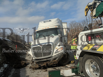 A tractor trailer crash on Interstate 76 East has slowed teasing by mile marker 28, just west of the Cranberry exit. Responders are working to clear the scene and lane restrictions are in place from mile marker 26 to the scene of the crash. No further details were immediately available