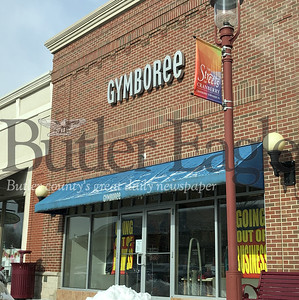 Photo by J.W. Johnson Jr.The Gymboree store in Cranberry Township has signs in the windows letting customers know the store is going out of business.