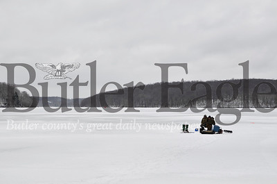 Park rangers in Moraine State Park started seeing the first ice fishermen of the season over the last week. Tanner Cole/Butler Eagle