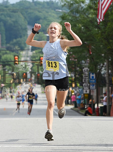Harold Aughton/Butler Eagle: Samantha Cornell of Chicora won the women's 2k race.