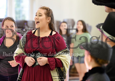 Harold Aughton/Butler Eagle: Ruby Shearer of Cabot practices a song in her role as Nancy in the play Oliver.