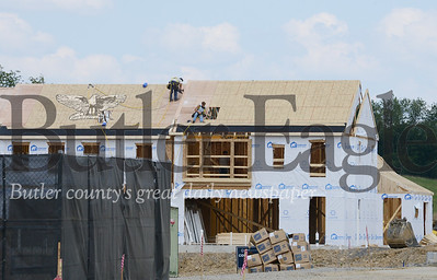 Photo by J.W. Johnson Jr. Work continues on the Meeder mixed-use development on Rochester Road in Cranberry Township.