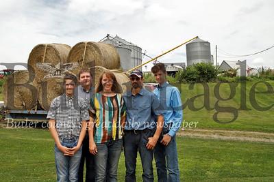 Left to right: Garrett, Tyler, Stacy, Brian and Austin Miller  Seb Foltz/Butler Eagle