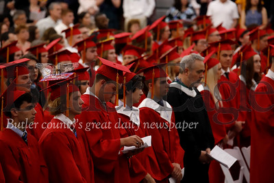 North Catholic graduates attend pre-graduation mass. Seb Foltz/Butler Eagle