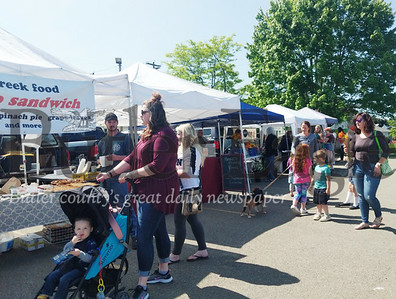 Monday marked the first day of the Zelienople Farmers Market, held each year at the Zelienople Community Park.