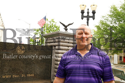 John Cyprian of the Veteran's Administration stands in front of the World War II  memorial he helped create. Seb Foltz/Butler Eagle