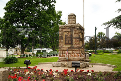 Slippery Rock Memorial Park, located at the corner of Main St. and Cooper St. Seb Foltz/Butler Eagle (1. on map)