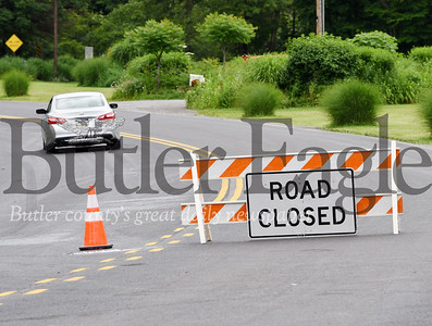Harold Aughton/Butler Eagle: Route 38 near Hoon road is closed.