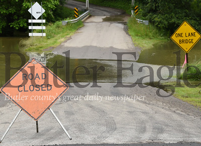 Harold Aughton/Butler Eagle: Hoon Road is closed due to flooding...