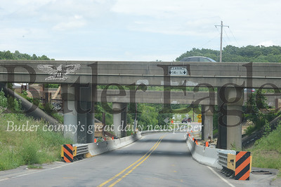 4 Column Photo by J.W. Johnson Jr.  North Boundary Road in Cranberry Township is tentatively scheduled to be closed this weekend as work continues on a bridge replacement project on Interstate 79.