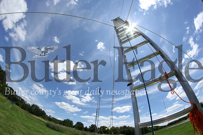 HAM radio antenna outside the Winfield Township municipal building. Seb Foltz/Butler Eagle