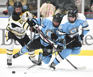 Seneca Valley vs North Allegheny in the PIHL Class AAA Penguins Cup Playoff  game at Baierl Ice Complex in Warrendale