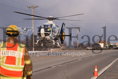 Accident on Rt 422 near Swartzlander Lane in Clearfield Twp