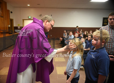 31343 Ash Wednesday Service at Butler Catholic School