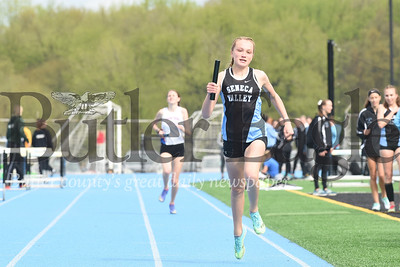Seneca's Karsyn Spears 4x800 relay.