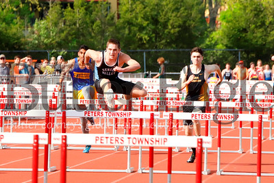 Seneca's Lake Smith 100 meter hurdles. Seb Foltz/Butler Eagle