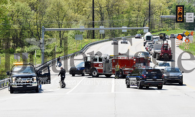Harold Aughton/Butler Eagle: Traffic was detored due to a wreck near the intersection of RT. 228 and Valencia roads Monday, May 6.