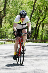 Harold Aughton/Butler Eagle: Mark Abbott, 69, of Saxonburg took a 35 mile bike ride Monday afternoon with fellow bikers Denny Soeder of Shaler and David Schnur of Butler.