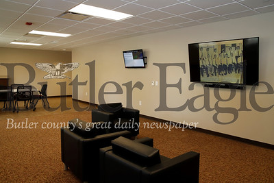 New addition to Cranberry Township Fire Department building includes a kitchen, multiple sleeping quarters, gym, offices, work/teaching spaces and a multi-use room(pictured).   Seb Foltz/Butler Eagle