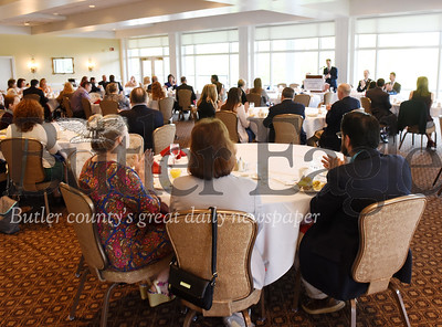 Harold Aughton/Butler Eagle: Business leaders gathered to listenn to local legislators at the Butler Country Club Friday, May 17.