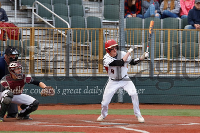 Moniteau's Hunter Fitzingo gets a hit. Seb Foltz/Butler Eagle
