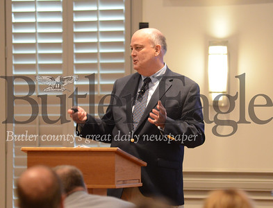 Chief Corporate Relations Officer for the Allegheny Conference onCommunity Development, Bill Flanagan, spoke on the changes the region has seen over the past fifteen years and the challenges that still remain. Photo Caleb Harshberger