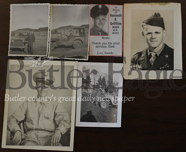 Kenneth E. Griffiths faced his share of close calls in World War Two. These are pictures of his time in Europe.
