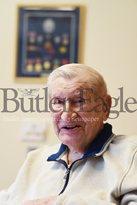 Harold Aughton/Butler Eagle: WW II veteran, Mike Uram of Butler