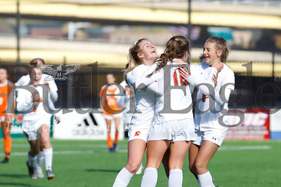 North Catholic celebrates a double overtime golden goal by Jayden Sharpless to clinch the WPIAL Class 2A Championship at Highmark Stadium in Pittsburgh Saturday. The Trojans topped Yough 1-0 in the closing minutes of double overtime. Seb Foltz/Butler Eagle